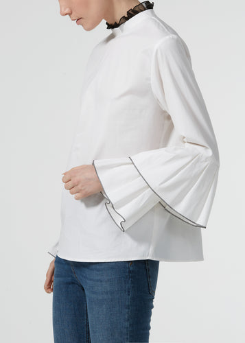 Wrist Candy Blouse - Milk Poplin