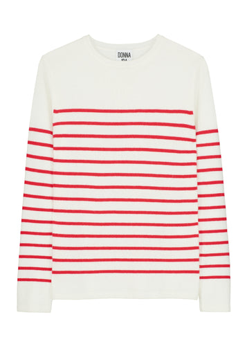 Weekend in NYC Cashmere Knit - Love That Red Stripe