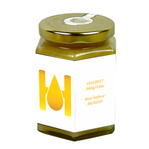 12oz Jar Label - Hello Honey (100 labels) - Bee Equipment