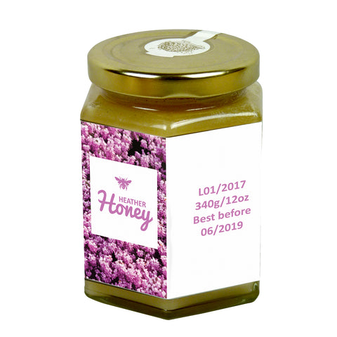 12oz Jar Label - Heather (100 labels) - Bee Equipment