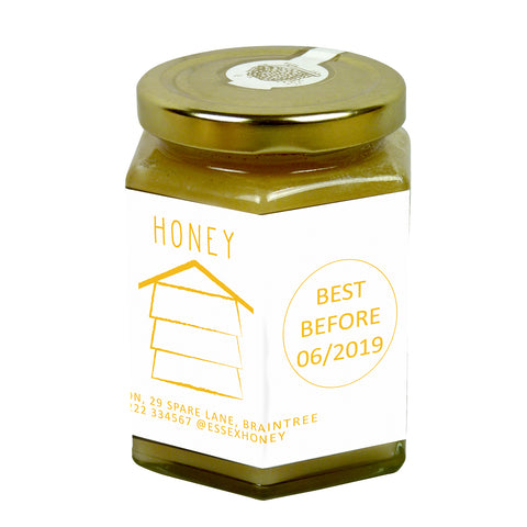 12oz Jar Label - Honey Hive (100 labels) - Bee Equipment
