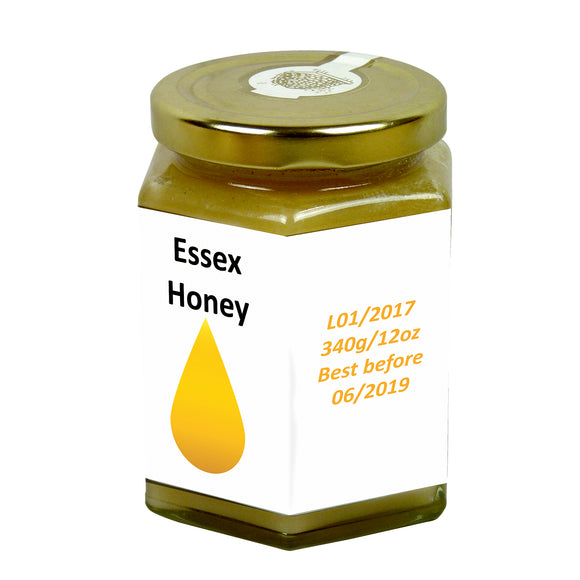 12oz Jar Label - Honey Drop (100 labels) - Bee Equipment