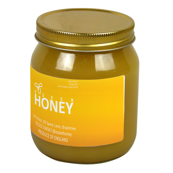 1lb Jar Label - Golden Honey (100 labels) - Bee Equipment