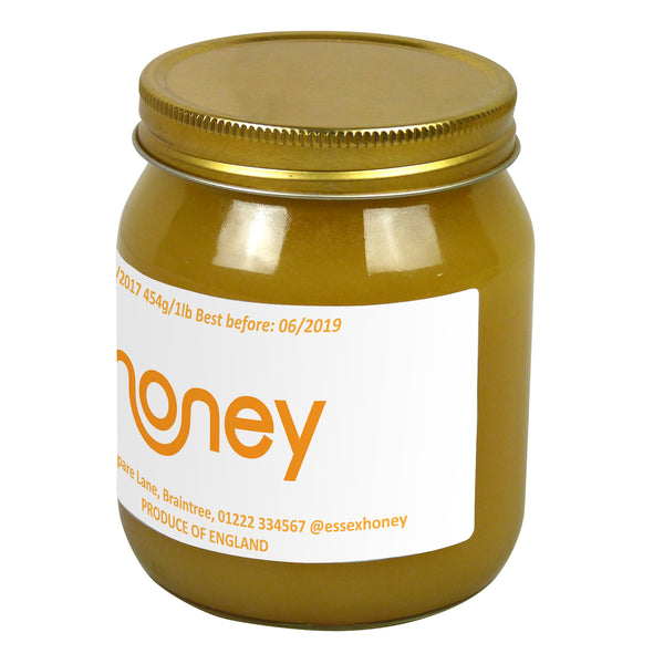 1lb Jar Label - Honey Smile (100 labels) - Bee Equipment