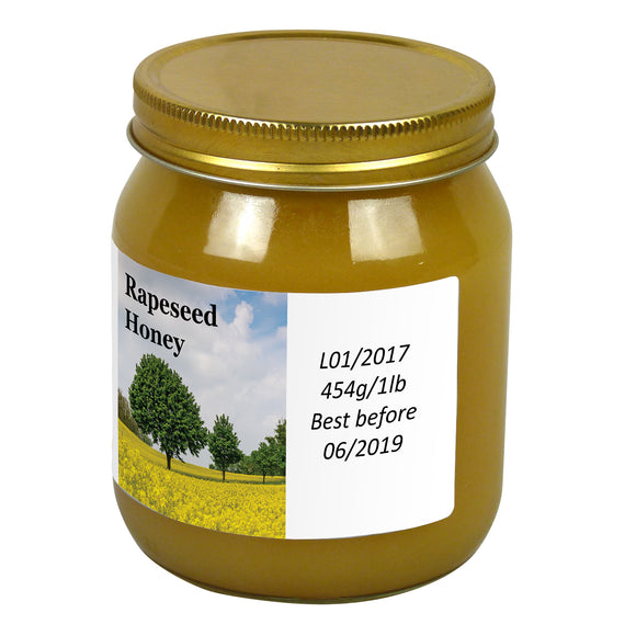 1lb Jar Label - Rapeseed (100 labels) - Bee Equipment