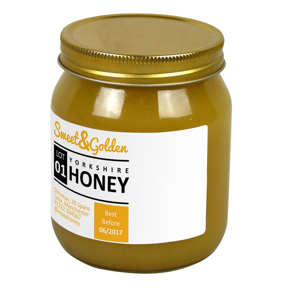 1lb Jar Label - Sweet and Golden (100 labels) - Bee Equipment