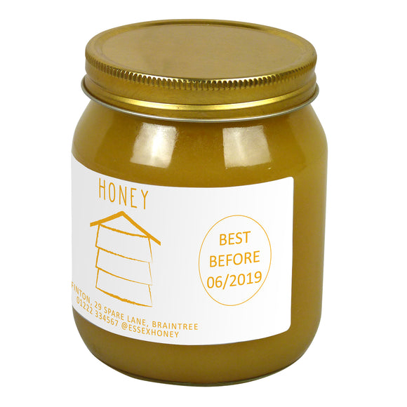 1lb Jar Label - Honey Hive (100 labels) - Bee Equipment