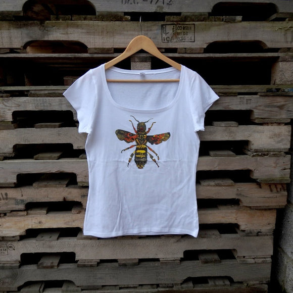 Queen Bee White Ladies T-shirt