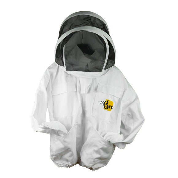 Cotton Beekeeping Jacket with Fencing Veil