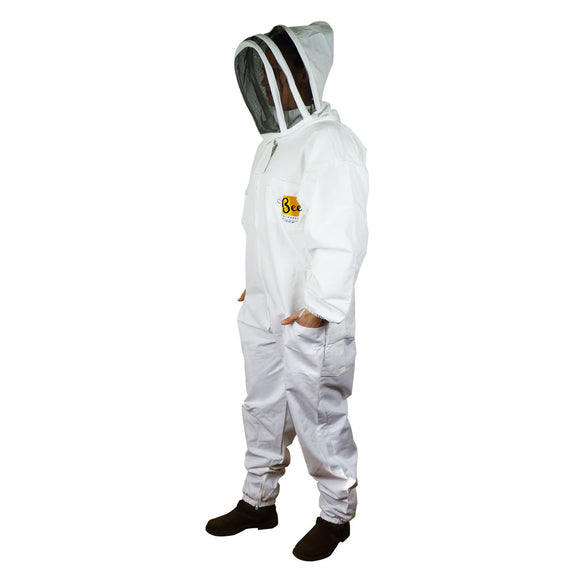 Cotton Beekeeper Suit With Fencing Veil