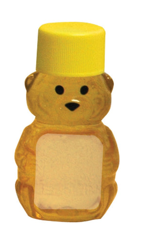 2oz Teddy Bear With Lid, 24 Pack - Bee Equipment