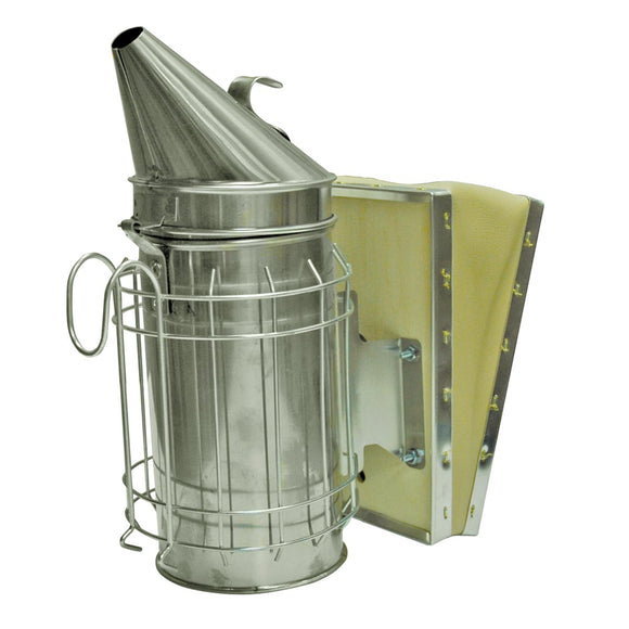 4 X 7 Stainless Steel Smoker With Guard & Wood Bellow - Bee Equipment