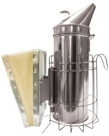 4 X 10 Smoker Stainless Steel With Guard, Wooden Bellow
