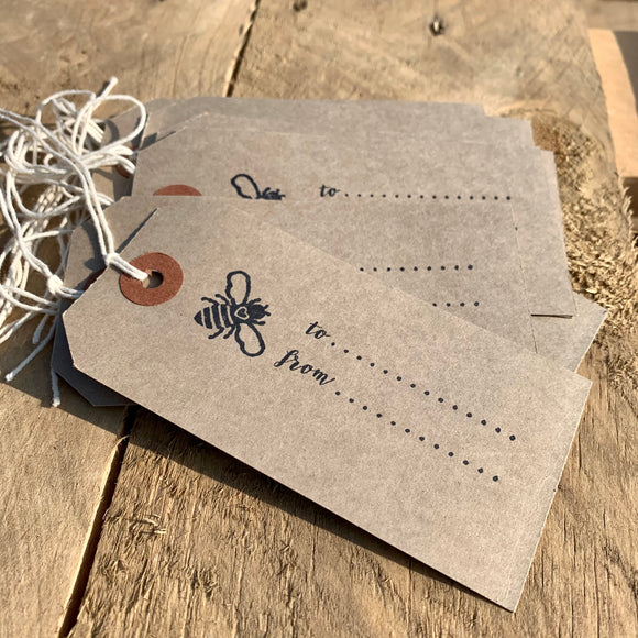 Artisan Hand Stamped Gift Tags