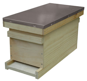 B.S. National Nuc Box With Roof, Crown Board and Solid Floor, Cedar - Bee Equipment