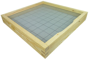 B.S. National Open Mesh Floor With Drawer And Entrance Block, Pine, Flat - Bee Equipment