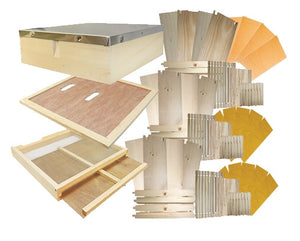 B.S. National Complete Hive Kit, Assembled, Cedar, With Premium Wax Foundation - Bee Equipment