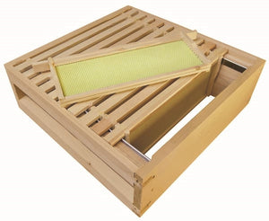 B.S. National Super, Assembled, With Wooden Frames and Yellow Plastic Foundation, Pine, 1st Grade - Bee Equipment