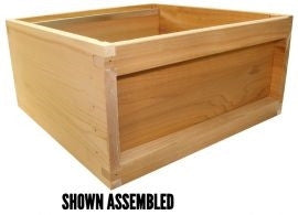 B.S. National Brood Box, Assembled, Cedar, 1st Grade - Bee Equipment