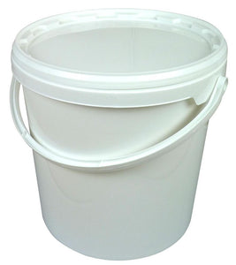 16L Tapered White Bucket with lid - Bee Equipment