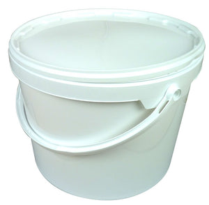 10.7L Tapered White Bucket with lid - Bee Equipment
