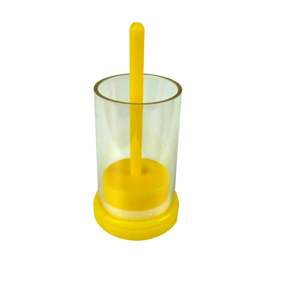 Queen Marking Tube With Plunger, Yellow