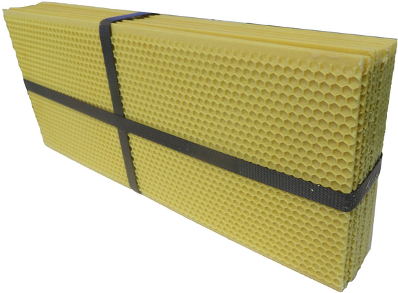 National Hybrid Beeswax Coated Plastic Foundation, Super, Yellow, 10 Pack