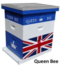 Custom Painted Hive-Queen Bee
