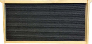 Langstroth Brood Frame, Assembled, with Black Beeswax Coated Plastic Foundation