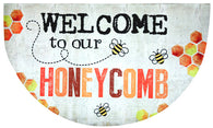 Welcome to our Honeycomb Welcome Mat
