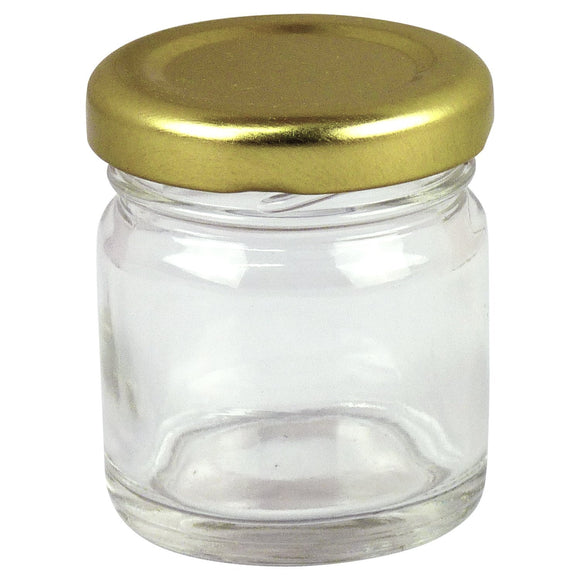 1.5oz  Honey Jar With Gold Lid, 100 Pack - Bee Equipment