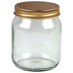 1lb Round Honey Jar With Lid, 72 Pack - Bee Equipment