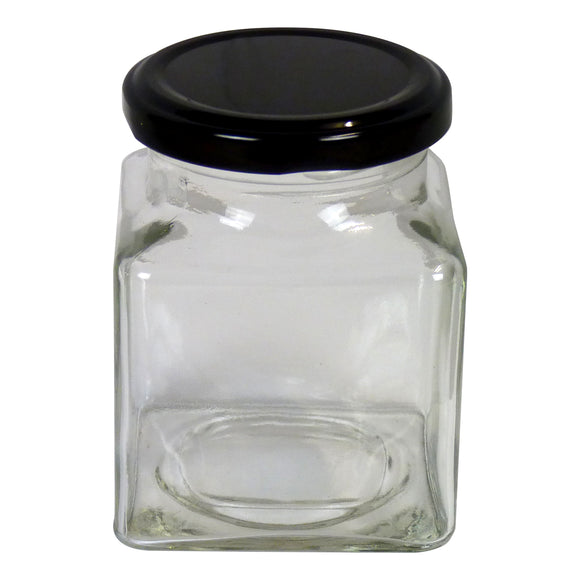 Square Jar, 12oz, 24 pack