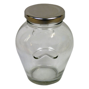 Orcio Glass Jar, 4 oz, 48 pack with Lids