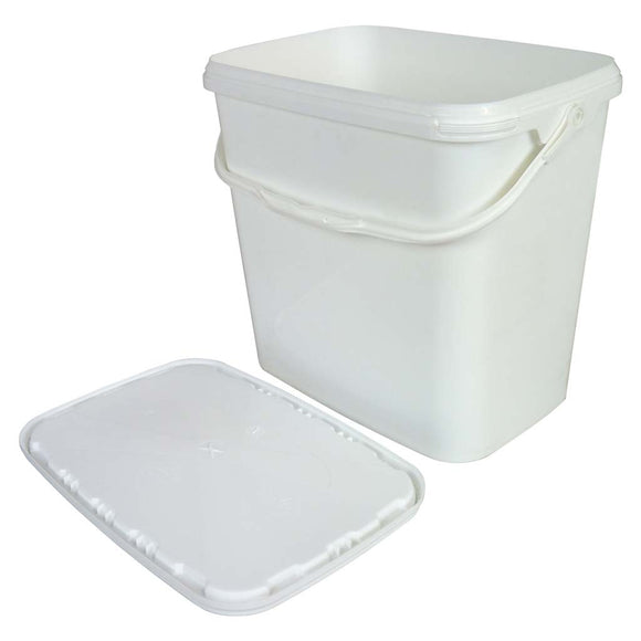 Large Plastic Rectangle Bucket/Tool Tub With Lid