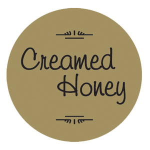 "Label: Creamed Honey, 1 1/4"" Gold Foil, 250 Pack"