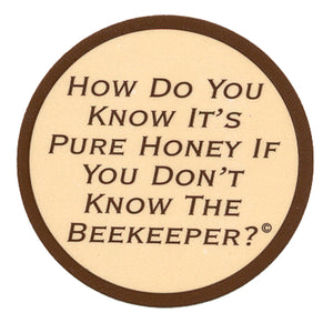 "1 1/4"" Round Beekeeper Label, 250 Pack - Bee Equipment"