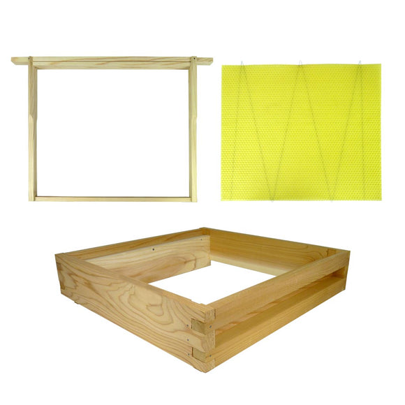 14x12 kit: Flat Eke and frames, and foundation
