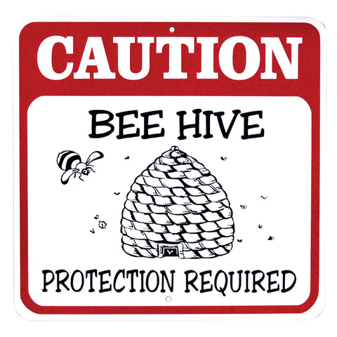 Caution Beehive Sign, 12 X 12 - Bee Equipment