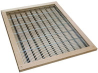10 Frame Langstroth Wood Bound Metal Excluder - Bee Equipment