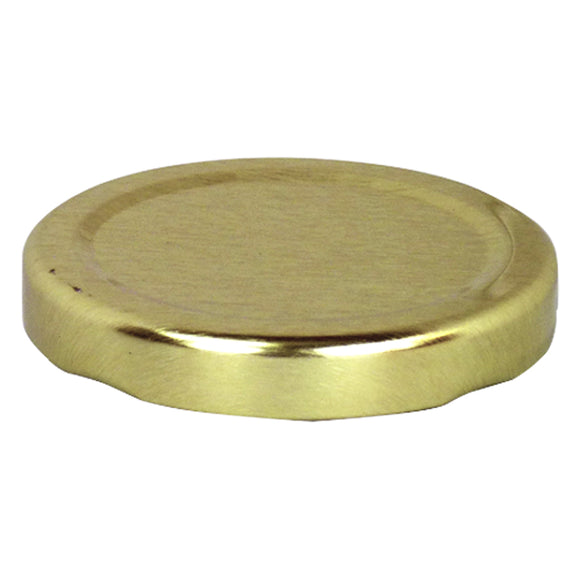 8 oz Hex Gold Lid - 58mm Wide, 84 pack - Bee Equipment