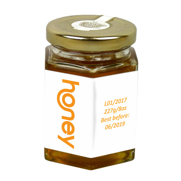 8oz Jar Label - Honey Smile (100 labels) - Bee Equipment