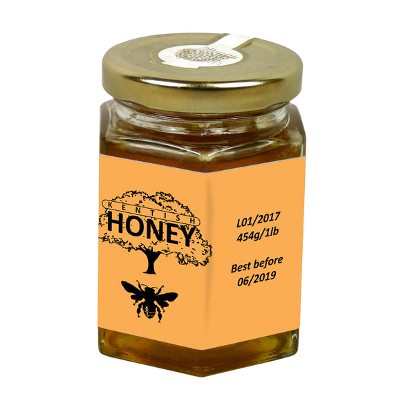 8oz Jar Label - Bees in Trees (100 labels) - Bee Equipment