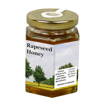 8oz Jar Label - Rapeseed (100 labels) - Bee Equipment