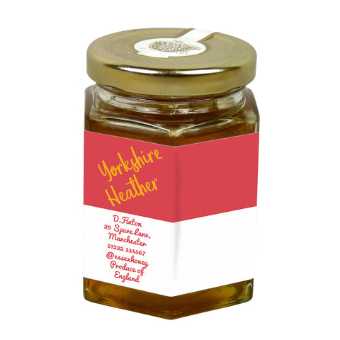 8oz Jar Label - Stripes (100 labels) - Bee Equipment