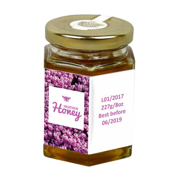 8oz Jar Label - Heather (100 labels) - Bee Equipment