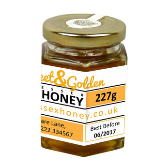 8oz Jar Label - Sweet and Golden (100 labels) - Bee Equipment