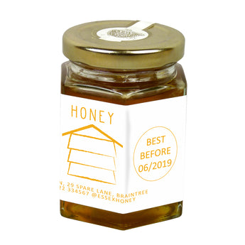 8oz Jar Label - Honey Hive (100 labels) - Bee Equipment