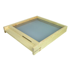 B.S. National Open Mesh Floor with landing board, Pine, Assembled - Bee Equipment