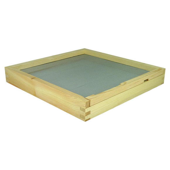 B.S. National Open Mesh Floor With Drawer And Entrance Block, Assembled - Bee Equipment